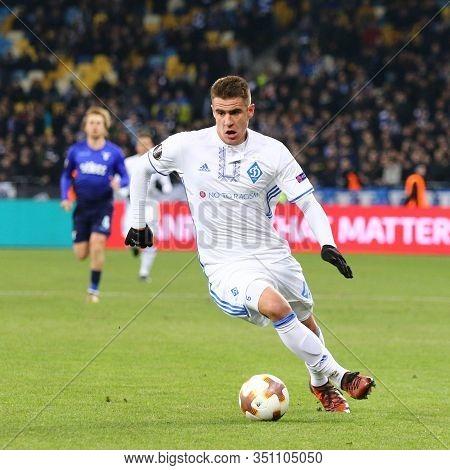 Kyiv, Ukraine - March 15, 2018: Artem Besedin Of Fc Dynamo Kyiv In Action During Uefa Europa League