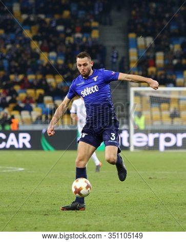 Kyiv, Ukraine - March 15, 2018: Stefan De Vrij Of Ss Lazio In Action During Uefa Europa League Round