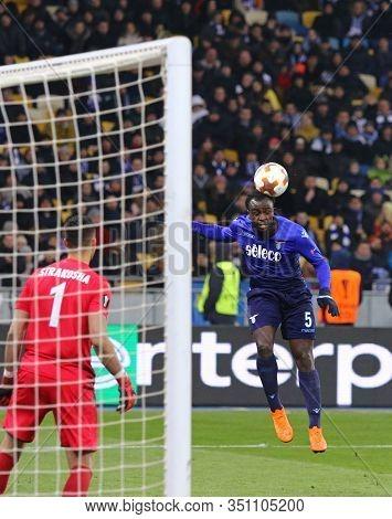 Kyiv, Ukraine - March 15, 2018: Jordan Lukaku Of Ss Lazio Kicks A Ball During Uefa Europa League Rou