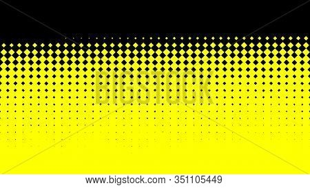 Abstract Optical Illusion Rows Of Green Rhombuses Covering Black Background From The Bottom To The T