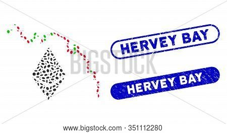 Mosaic Ethereum Fall Chart And Rubber Stamp Watermarks With Hervey Bay Caption. Mosaic Vector Ethere