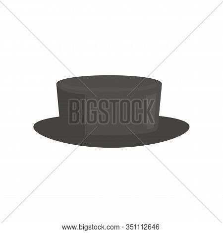 Old Fashioned Hat Flat Icon. Vector Old Fashioned Hat In Flat Style Isolated On White Background. El