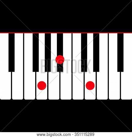 Piano Chord G Minor (gm) Shown By Red Circle On The Key