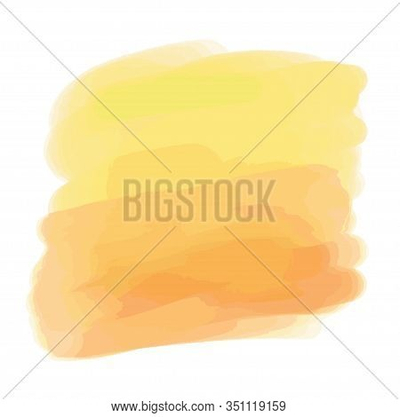 Colorful Digital Watercolor Spot On Isolated White Background. Painted Blot. Colored Aquarelle Splot