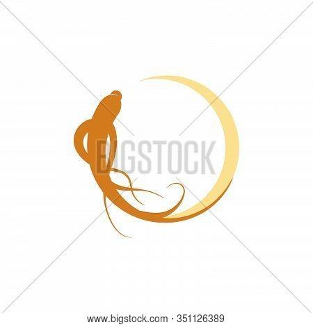 Ginseng Vector Icon Illustration