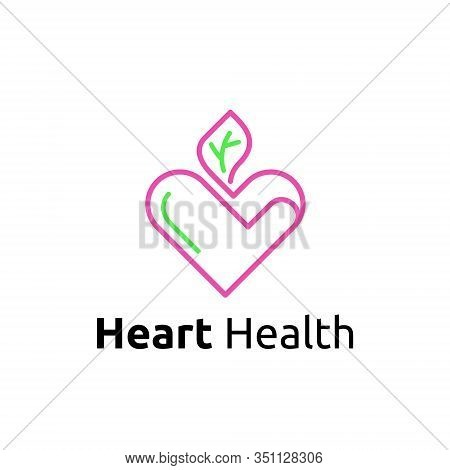 Heart Cardiovascular Health Cardiologists Clinic Hospital Symbol Logo Template