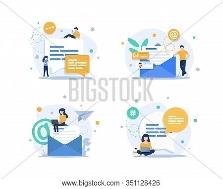 Email And Messaging,email Marketing Campaign,working Process, New Email Message