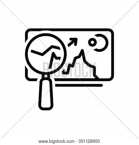 Black Line Icon For Market-analysis  Market Trend Tendency Statistic Arrow Finance Graphic Economic