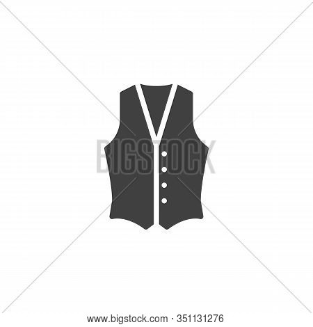 Mens Waistcoat Vector Icon. Filled Flat Sign For Mobile Concept And Web Design. Waistcoat Jacket Gly