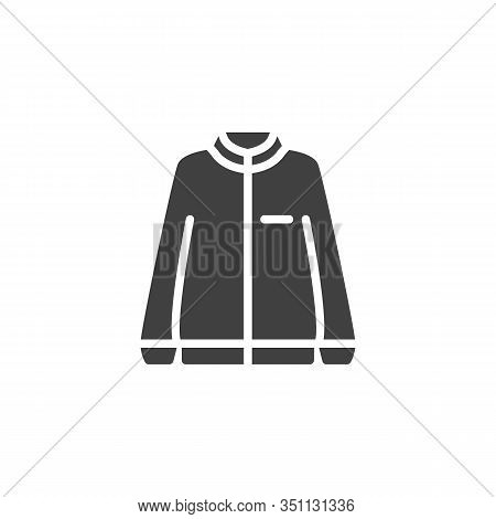 Long Sleeve Jacket Vector Icon. Filled Flat Sign For Mobile Concept And Web Design. Sweatshirt Jacke