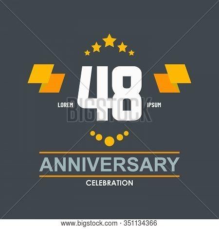 48 Anniversary Celebration Vector Concept Template Design Illustration