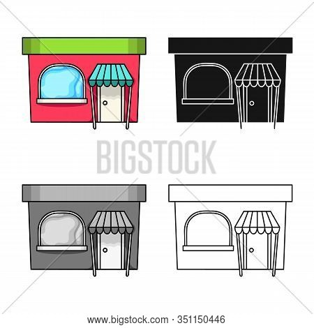 Isolated Object Of Bookstore And Modern Sign. Collection Of Bookstore And Shop Stock Vector Illustra