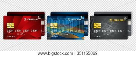 Credit Debit Card. Business Or Corporate Design. Private E-money, Security Payment Information. Real