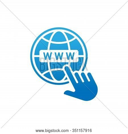 Website, Website icon, Website vector, WWW icon vector, Website logo, Website symbol, Website sign, Website WWW icon, Web design. Web vector flat icon symbol for website, logo, app, UI. Website icon isolated on white background.