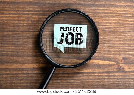 Perfect Job. Research, Career, Opportunity And Future Concept