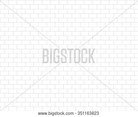 Simple White Brickwall Rustic Blocks Texture Background