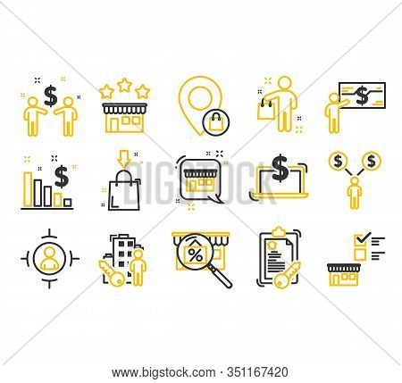 Web Icon Set. Buyer Icons Set. Outline Set Of Buyer Vector Icons For Web