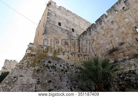 The Fortress Walls Of The Old City Of Jerusalem Were Built In 1538 By The Ottoman Sultan Suleiman I.