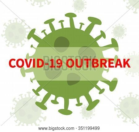 Concept Of Novel Coronavirus Outbreak Covid-19 2019-ncov Wuhan China. Vector Icon Sign Of Covid Ncov
