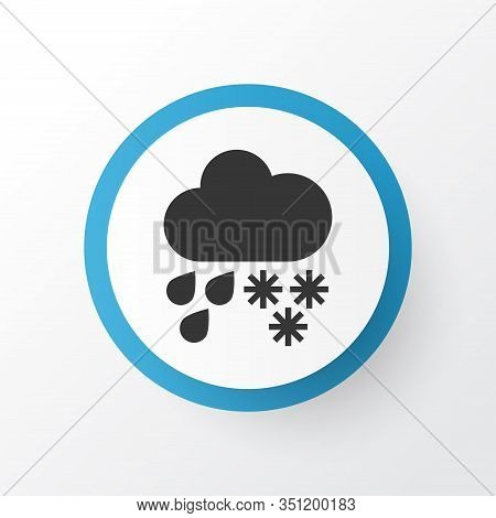 Hail Icon Symbol. Premium Quality Isolated Drizzle Element In Trendy Style.