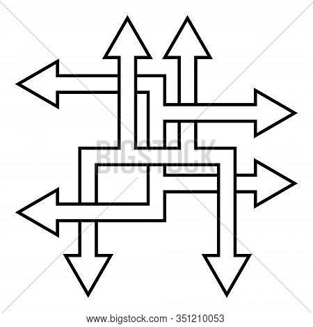 Complex Ways Solve Complex Problems, Vector Arrow Direction Path Symbol Sign Optimization Of The Pro