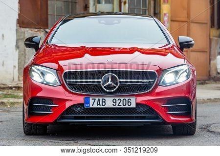 Prague, Czech Republic - February 1, 2019: Mercedes-benz E53 Amg In Prague, Czech Republic, February