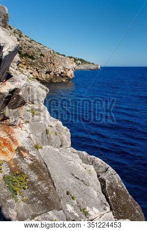 Adriatic Coastline Landscape In Salento, Apulia. Italy