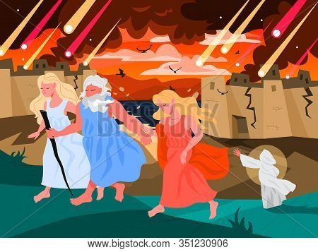 Bible Narratives About Sodom And Gomorrah. Christian Bible Character.