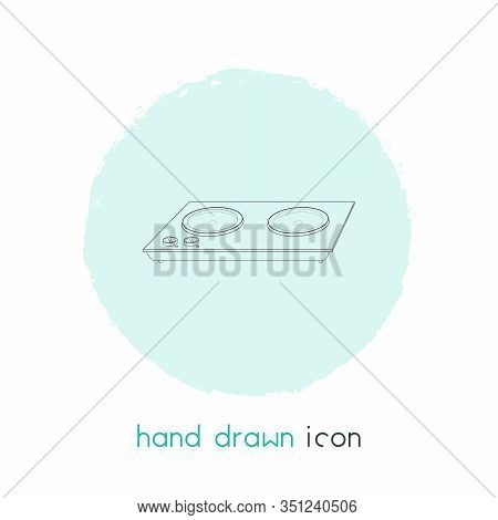 Electric Cooker Icon Line Element. Vector Illustration Of Electric Cooker Icon Line Isolated On Clea