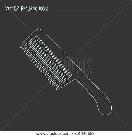 Comb Icon Line Element. Vector Illustration Of Comb Icon Line Isolated On Clean Background For Your