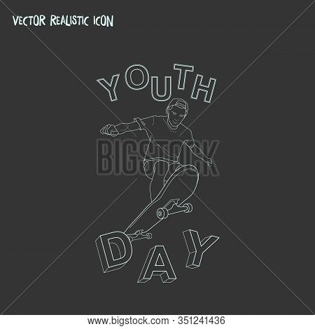 International Youth Day Icon Line Element. Vector Illustration Of International Youth Day Icon Line