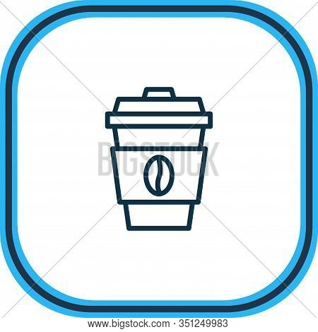 Vector Illustration Of Coffee Icon Line. Beautiful Activities Element Also Can Be Used As Decaf Icon