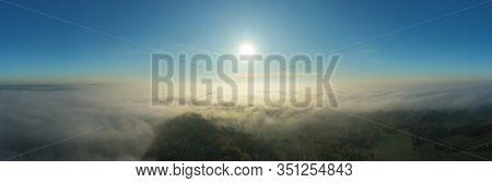 Morning Fog On A Summer Sunrise,poland Landscape