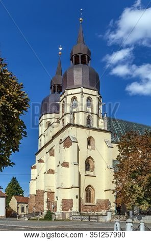 Saint Nicolas Church Is A Gothic Cathedral In Trnava, Slovakia. It Was Built Between 1380 And 1421