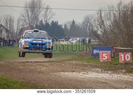 Sveta Nedjelja, Croatia - November 24, 2019. 10th Rally Show Santa Domenica. Serpelloni Sebastiano A
