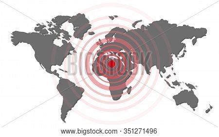 Earthquake Background. Seismogram For Seismic Measurement. Vector