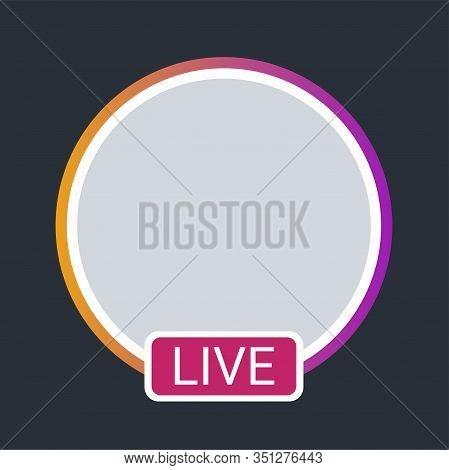 Live Color Element. Social Media Button. Sign For Web Page, Mobile App, Banner, Social Media. Editab