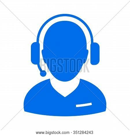 Call Center Operator Wearing Headset Vector Concept Silhouette Icons. Pdf 10