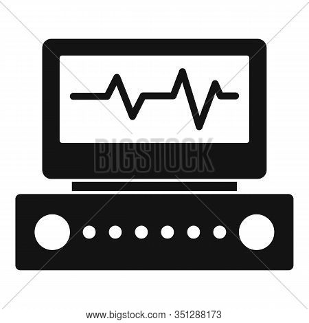 Electrocardiogram Equipment Icon. Simple Illustration Of Electrocardiogram Equipment Vector Icon For