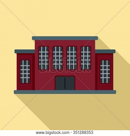 Tribunal Building Icon. Flat Illustration Of Tribunal Building Vector Icon For Web Design