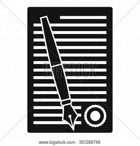 Legislation Paper Icon. Simple Illustration Of Legislation Paper Vector Icon For Web Design Isolated