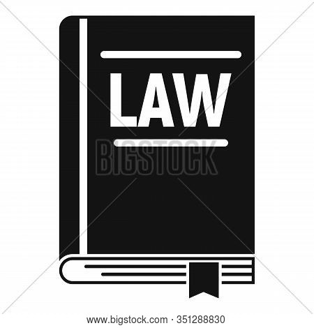 Legislation Book Icon. Simple Illustration Of Legislation Book Vector Icon For Web Design Isolated O