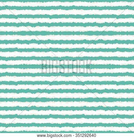 Azure Abstract Line Vector Seamless Pattern. Blue Paper Line American Print. Geometric Scandinavian