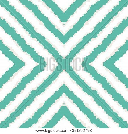 Indigo Trendy Tribal Vector Seamless Pattern. Fabric Tile Japan Background. Aztec Abstract Print. In