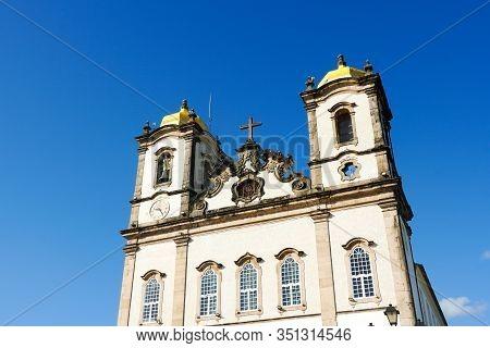 Igreja De Nosso Senhor Do Bonfim, A Catholic Church Located In Salvador, Bahia In Brazil. Famous Tou