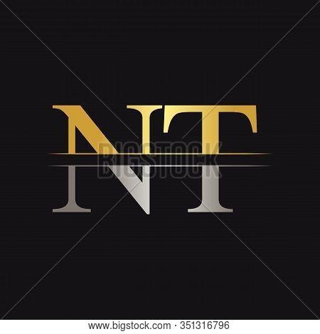 Initial Monogram Letter Nt Logo Design Vector Template. Nt Letter Logo Design
