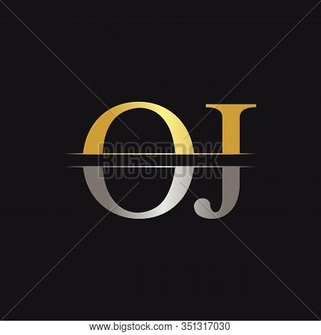 Initial Monogram Letter Oj Logo Design Vector Template. Oj Letter Logo Design