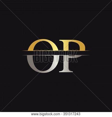 Initial Monogram Letter Op Logo Design Vector Template. Op Letter Logo Design