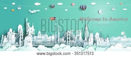 Travel Landmarks United States Of America Famous Monument Architecture Skyline, Tour Landmark To Gol