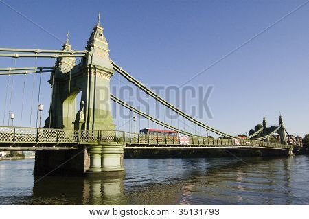 Hammersmith Bridge, West London
